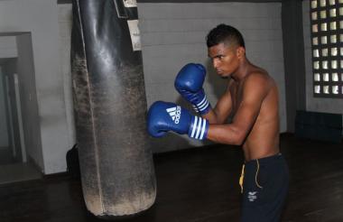 El boxeador barranquillero Luis Miguel Ruiz.