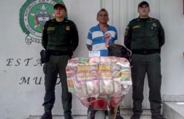 Duberney Vargas Hernández, de 42 años, aprehendido en la plaza del municipio de Muzo.