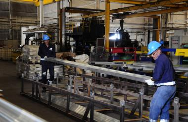 Aspecto de la planta de la empresa Tencnoglass en Barranquilla.
