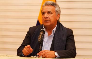 El presidente de Ecuador Lenín Moreno.