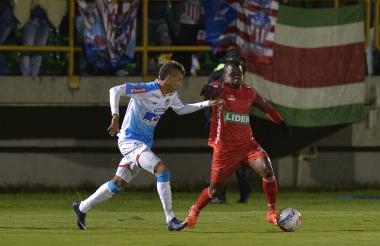 Acción del juego en el que Junior cayó 1-0 ante Patriotas.