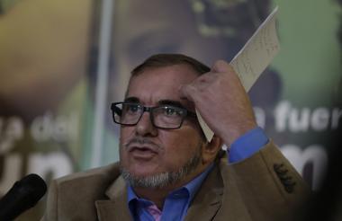 El candidato presidencial por el partido político de los ex guerrilleros de las Farc, Rodrigo Londoño conocido como 'Timochenko'.
