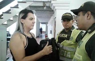 Karina Assis, turista brasilera.