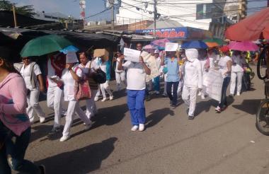 Protesta de los enfermeros.