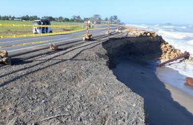 Erosión en Puerto Rey y Los Córdobas, en Arboletes.