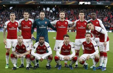 Once inicialista de Arsenal esta tarde.