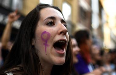 Las mujeres protestan contra 'La Manada'.