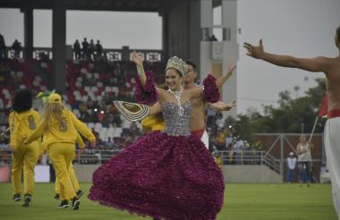 La reina del Carnaval.