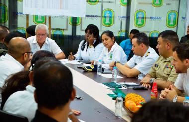 El alcalde Joao Herrera en el  consejo de seguridad que presidió en el municipio de Soledad.