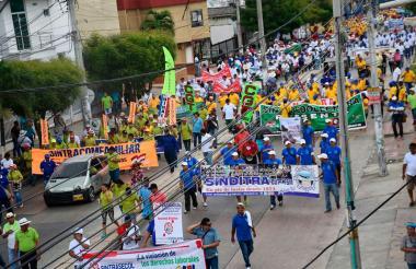 Marcha de los trabajadores realizada el año pasado.