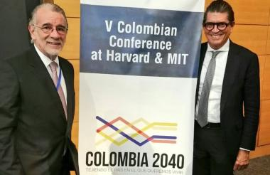 Eduardo Verano y Antonio Celia en el evento.