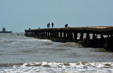 Estado actual del Muelle de Puerto Colombia, dividido en dos tramos.