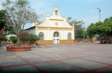 Plaza central de El Copey, Cesar.