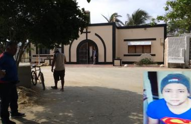 Entrada del cementerio, donde fue baleado el joven.