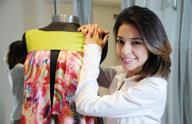 Laura Riquett, diseñadora de moda barranquillera y anfitriona del evento.