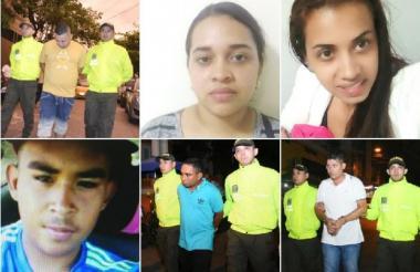 Estos son los siete detenidos en los operativos policiales