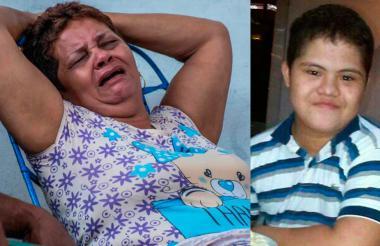 Madys Olivera, en medio del llanto, espera dar con el paradero de su hijo.