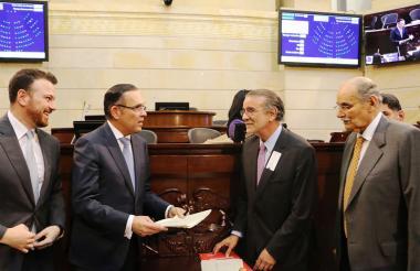 Juan Manuel Galán, Efraín Cepeda, Eduardo Verano y Horacio Serpa.