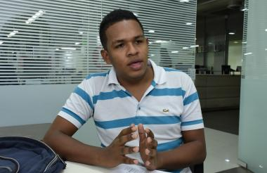 John Jairo Fajardo, líder estudiantil.