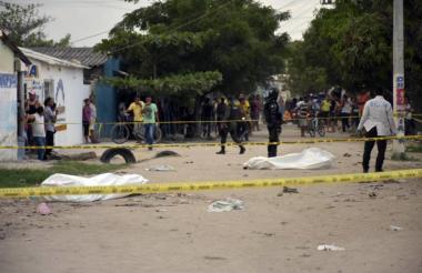 El doble homicidio se registró el jueves en la tarde en el barrio San Vicente, de Soledad.