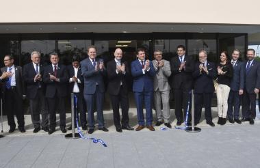 Presidente de la Fifa, Gianni Infantino, junto a los presidentes de las confederaciones sudamericanas.