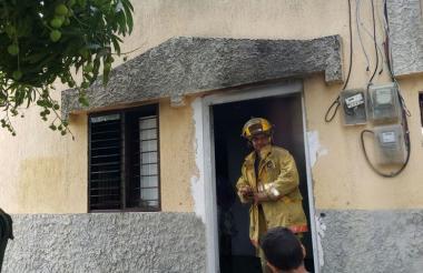 Casa afectada por los hechos, el pasado martes en horas de la mañana.