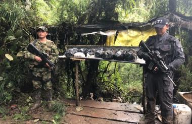 El cristalizadero de cocaína hallado en Sibaté.