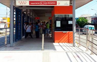 Estación Joaquín Barrios Polo, lugar donde se cometió el robo.