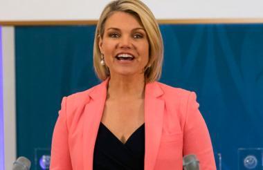 Heather Nauert, portavoz de la diplomacia de Estados Unidos.