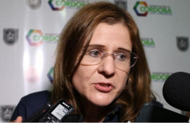 Sandra Devia Ruiz, gobernadora (e) de Córdoba.