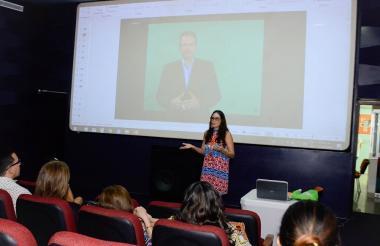 Ana Milena Londoño durante el conversatorio.