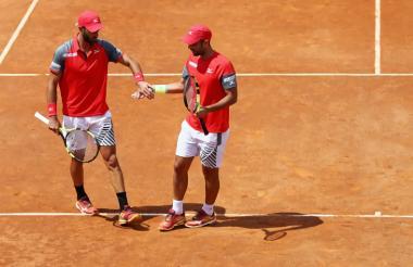 Los tenistas Robert Farah y Juan Sebastián Cabal.