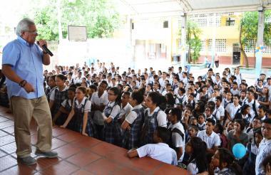 Estudiantes de colegios públicos de Soledad.