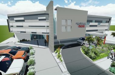 Render de lo que será el nuevo hospital de Piojó.
