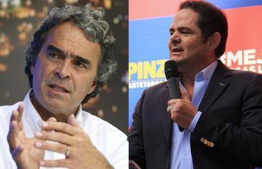Sergio Fajardo, candidato de Coalición Colombia y Germán Vargas, jefe natural de Cambio Radical.