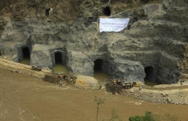 Obras de construcción de la Hidroeléctrica de Ituango.