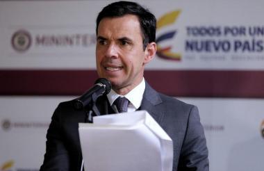 Guillermo Rivera, ministro del Interior.