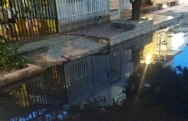 Esta es la calle con la problemática en el barrio Villa Salamar de Soledad.