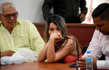 Elizenis Muñoz Navarro, en la audiencia de imputación de cargos.