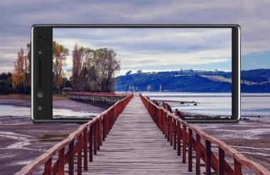 Los paisajes son tomas comunes a la hora de viajes. En la foto, el Alcatel 5.