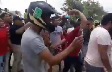 Imagen captada de un video tomado en el ataque.