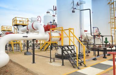 Equipos que forman parte de un gasoducto.