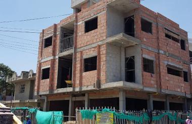 Aspecto de la construcción que fue cerrada enVilla Marbella, Santa Marta.