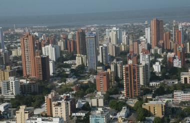 Barranquilla, panorámica de un sector del norte de la ciudad.
