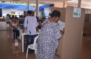 Jornada electoral en La Guajira.