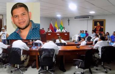 El concejal de Puerto Colombia por el partido ASI, Víctor Acosta Corro, detenido este sábado.