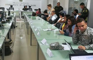 Las autoridades de Sucre monitorean el proceso desde el Puesto de Mando.