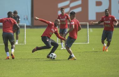 Alberto 'El Mudo' Rodríguez en el entrenamiento.