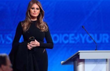 Melania Trump, primera dama de los Estados Unidos.