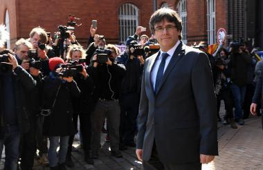 El expresidente independentista catalán Carles Puigdemont.